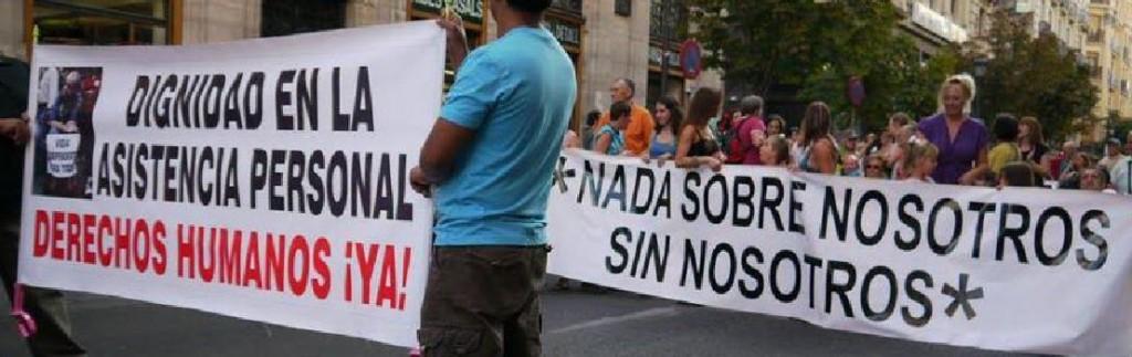 Pancartas durante una de las marchas