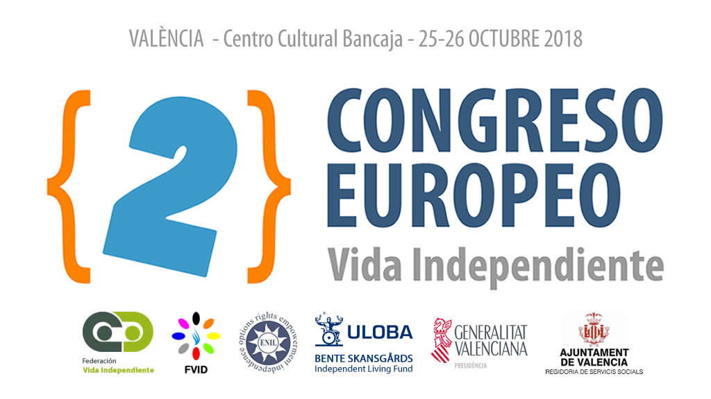 Cartel del Segundo Congreso Europeo sobre Vida Independiente